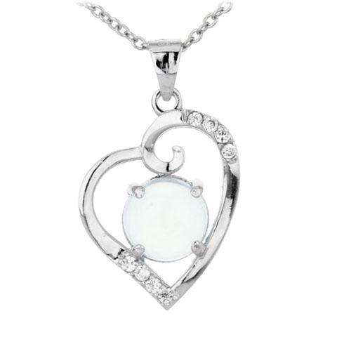 pendentif femme argent zirconium diamant 8300309