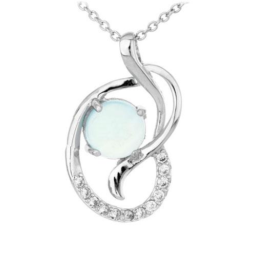 pendentif femme argent zirconium diamant 8300310