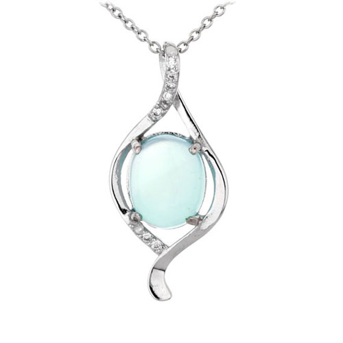 pendentif femme argent zirconium diamant 8300311
