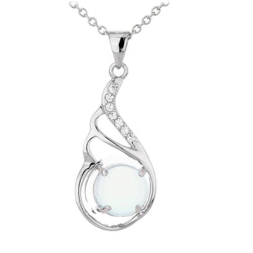 pendentif femme argent zirconium diamant 8300312