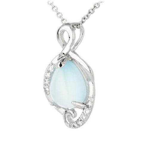 pendentif femme argent zirconium diamant 8300313 pic2
