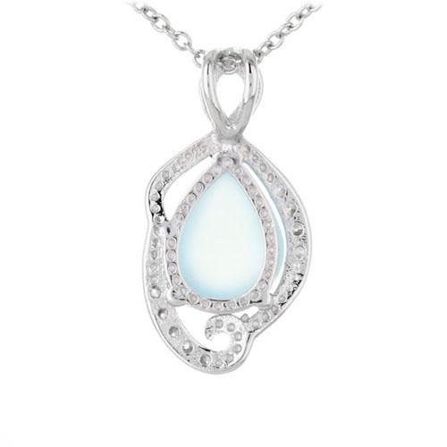 pendentif femme argent zirconium diamant 8300313 pic3