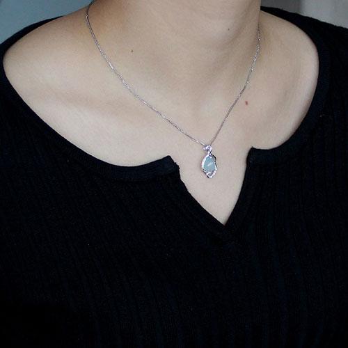 pendentif femme argent zirconium diamant 8300313 pic4
