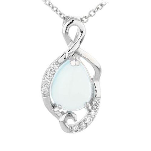 pendentif femme argent zirconium diamant 8300313