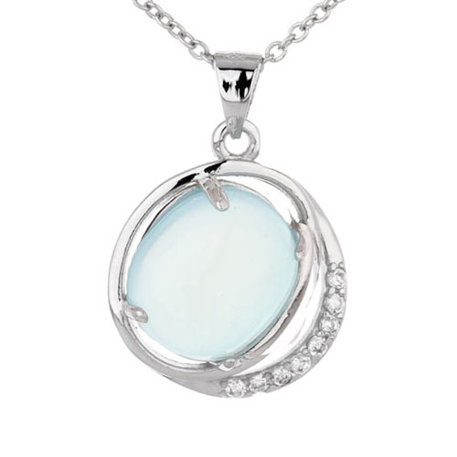 pendentif femme argent zirconium diamant 8300315