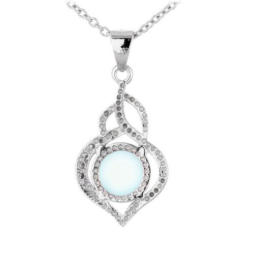 pendentif femme argent zirconium diamant 8300317 pic3
