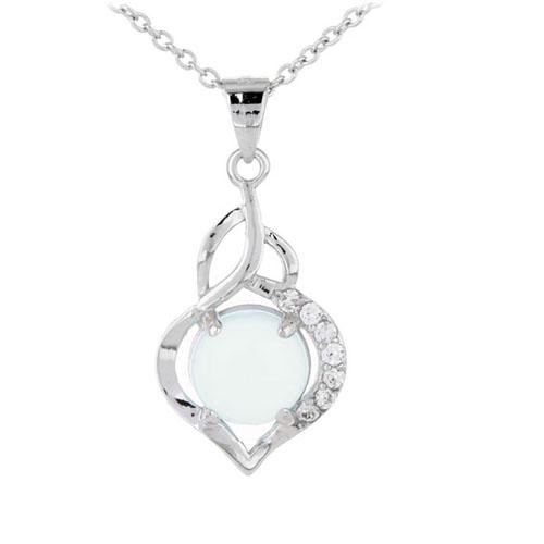 pendentif femme argent zirconium diamant 8300317