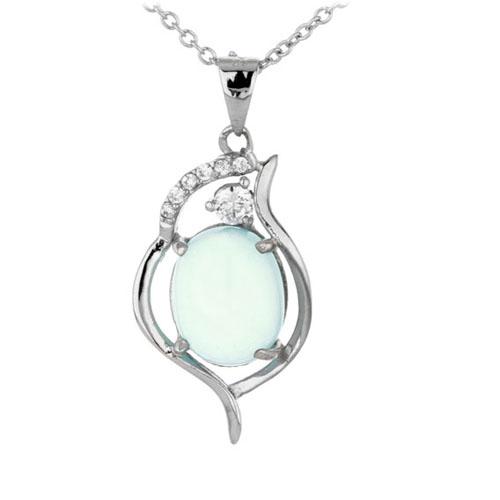 pendentif femme argent zirconium diamant 8300318