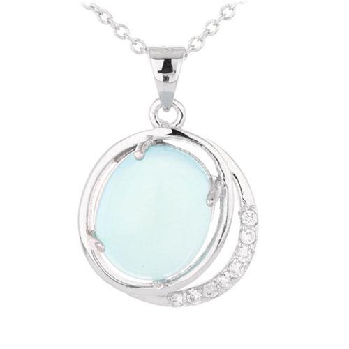 pendentif femme argent zirconium diamant 8300319