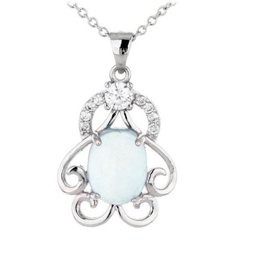 pendentif femme argent zirconium diamant 8300320