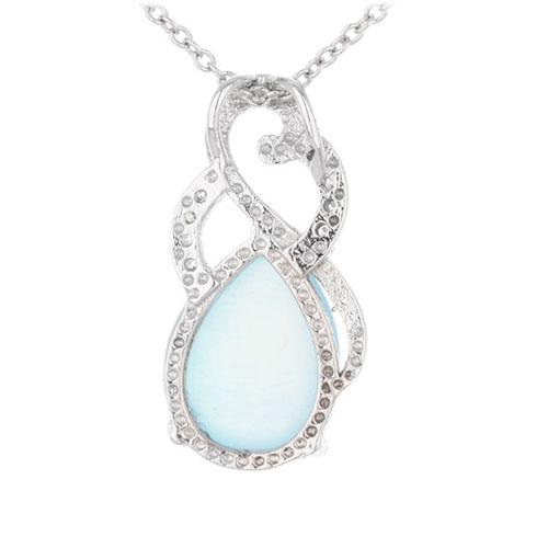 pendentif femme argent zirconium diamant 8300322 pic3