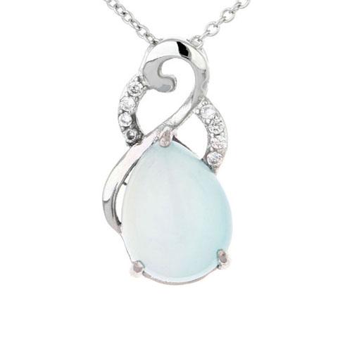 pendentif femme argent zirconium diamant 8300322