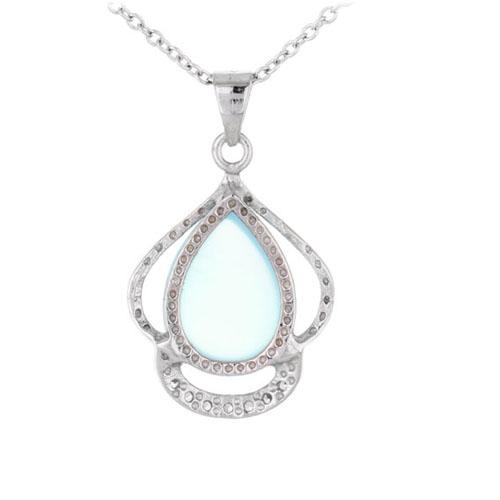 pendentif femme argent zirconium diamant 8300324 pic3