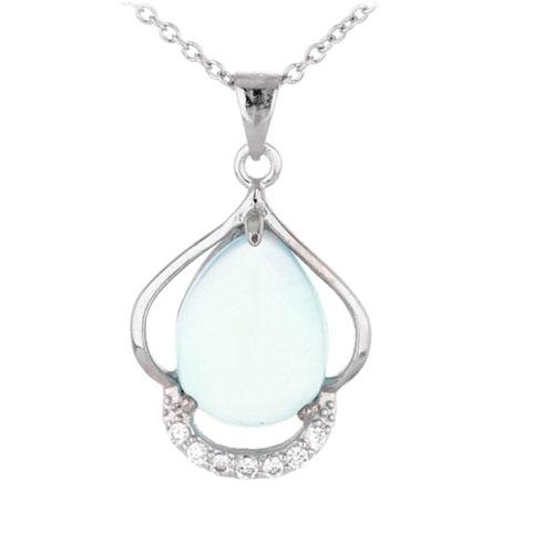 pendentif femme argent zirconium diamant 8300324