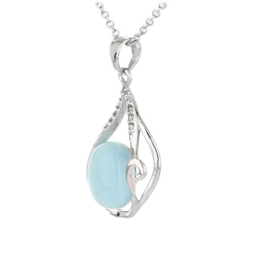 pendentif femme argent zirconium diamant 8300325 pic2