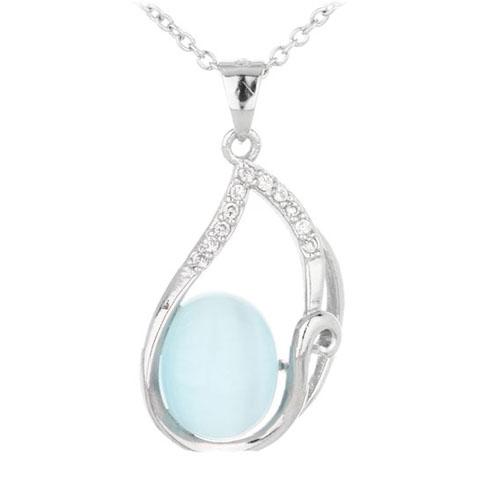 pendentif femme argent zirconium diamant 8300325