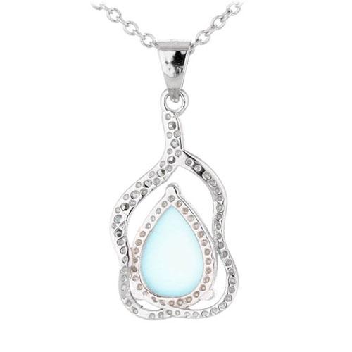 pendentif femme argent zirconium diamant 8300326 pic3