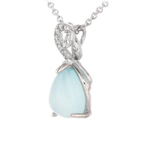 pendentif femme argent zirconium diamant 8300327 pic2
