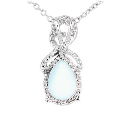 pendentif femme argent zirconium diamant 8300327 pic3