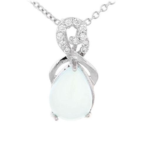 pendentif femme argent zirconium diamant 8300327