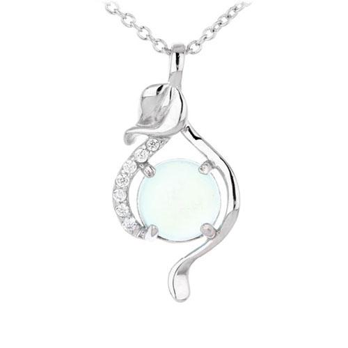 pendentif femme argent zirconium diamant 8300328