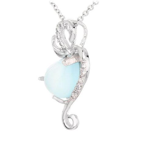 pendentif femme argent zirconium diamant 8300329 pic2