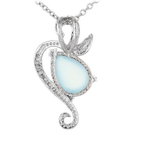 pendentif femme argent zirconium diamant 8300329 pic3