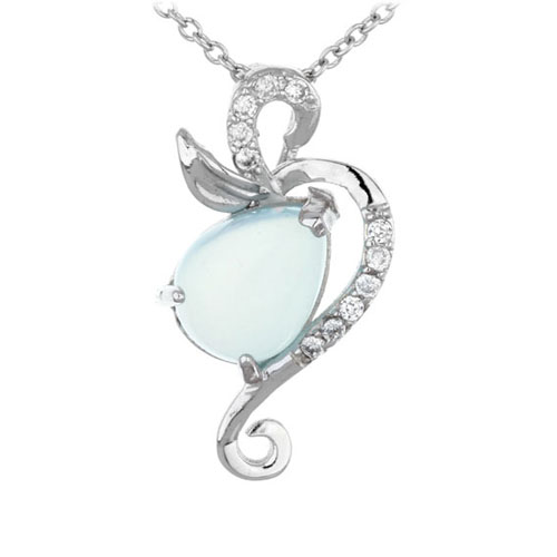 pendentif femme argent zirconium diamant 8300329