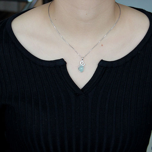 pendentif femme argent zirconium diamant 8300330 pic4