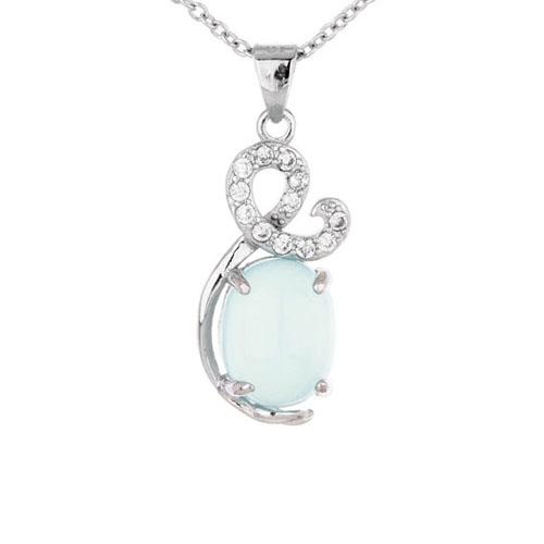 pendentif femme argent zirconium diamant 8300330