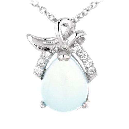 pendentif femme argent zirconium diamant 8300331