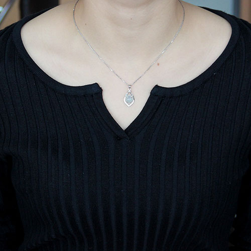 pendentif femme argent zirconium diamant 8300332 pic4