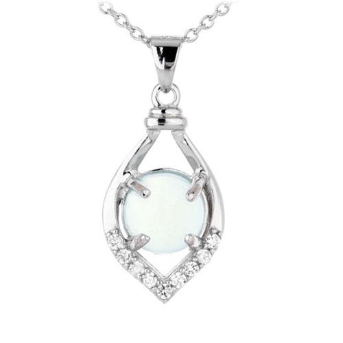 pendentif femme argent zirconium diamant 8300332