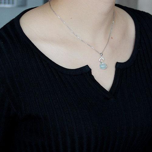 pendentif femme argent zirconium diamant 8300333 pic4