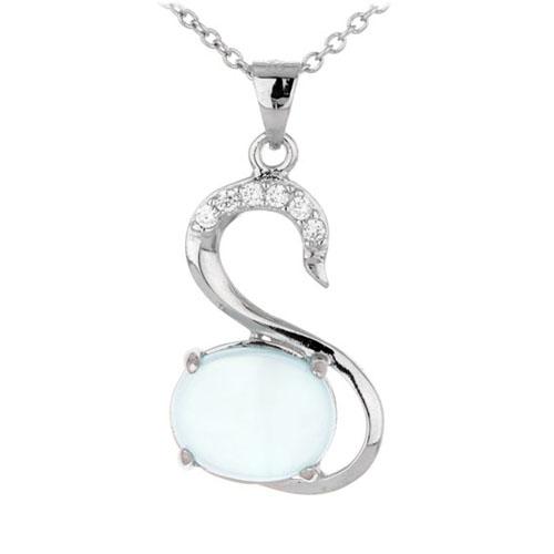 pendentif femme argent zirconium diamant 8300333