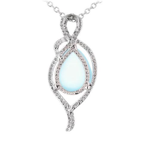 pendentif femme argent zirconium diamant 8300335 pic3