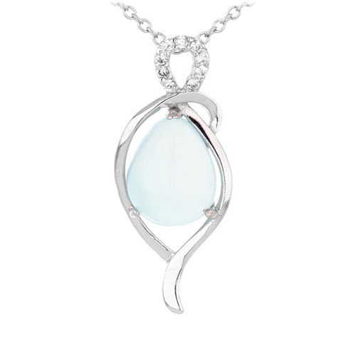 pendentif femme argent zirconium diamant 8300335