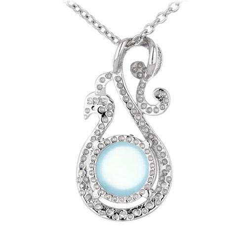 pendentif femme argent zirconium diamant 8300336 pic3