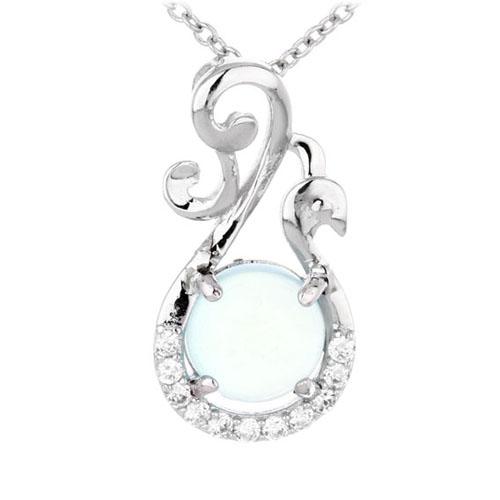 pendentif femme argent zirconium diamant 8300336