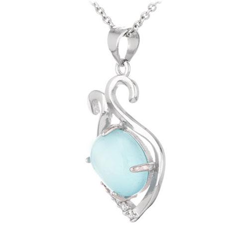 pendentif femme argent zirconium diamant 8300337 pic2
