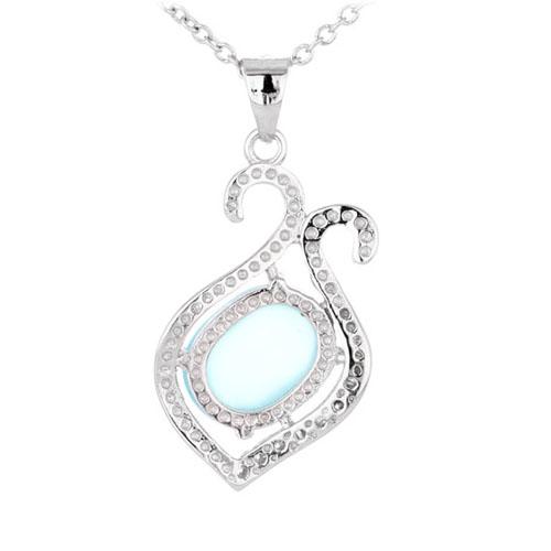 pendentif femme argent zirconium diamant 8300337 pic3