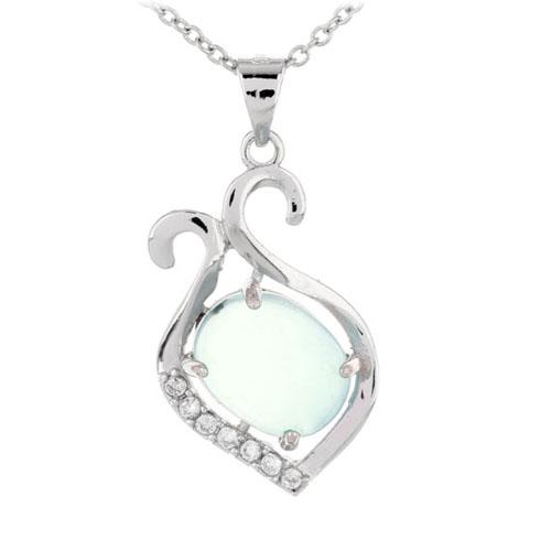 pendentif femme argent zirconium diamant 8300337