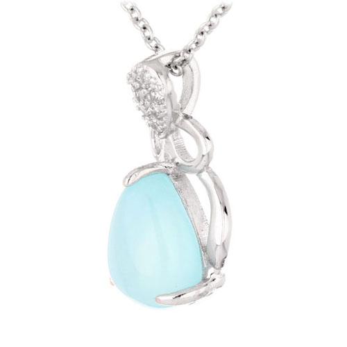 pendentif femme argent zirconium diamant 8300338 pic2