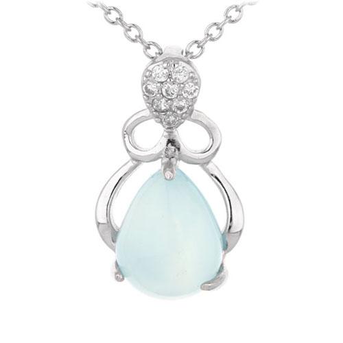 pendentif femme argent zirconium diamant 8300338