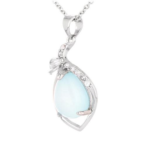 pendentif femme argent zirconium diamant 8300339 pic2