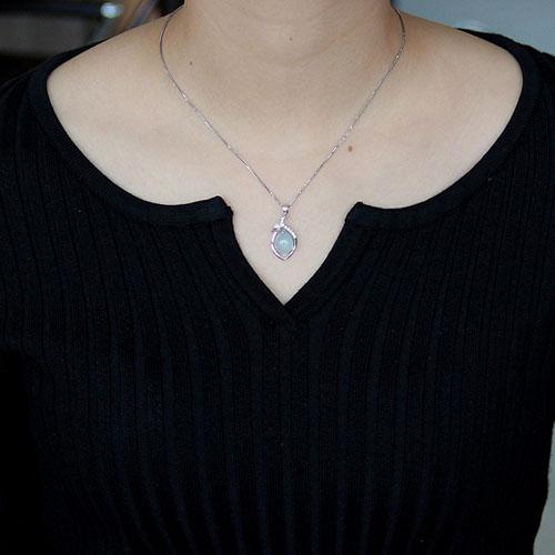 pendentif femme argent zirconium diamant 8300339 pic4
