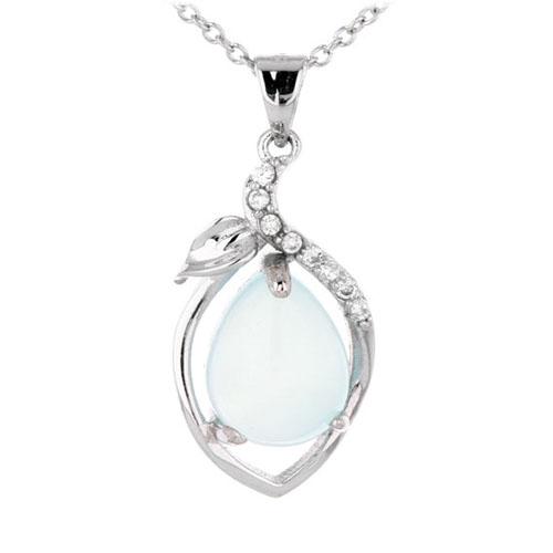 pendentif femme argent zirconium diamant 8300339