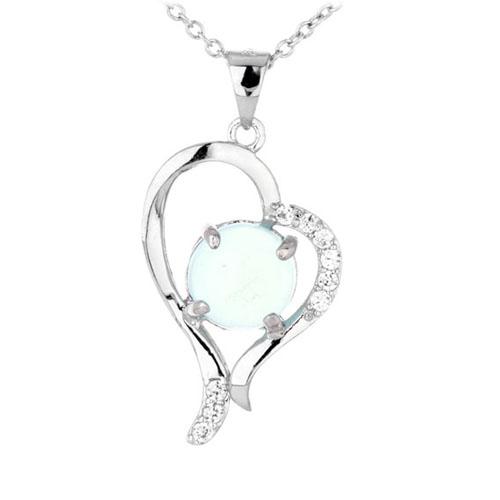 pendentif femme argent zirconium diamant 8300341