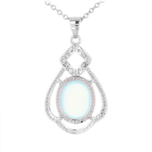 pendentif femme argent zirconium diamant 8300342 pic3