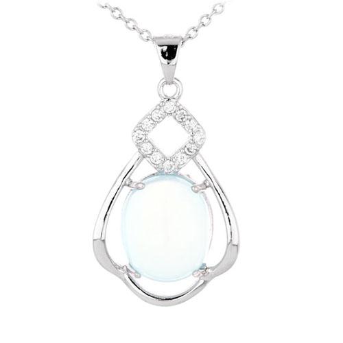 pendentif femme argent zirconium diamant 8300342